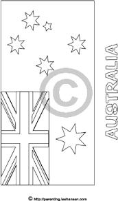 Australia Flag Coloring Sheet