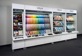 A View Of Valspar Paint Permanent Retail Display