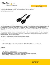 100 7m To Feet StarTechcom Coax High Resolution Monitor VGA Video Cable