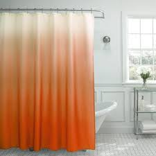 Ombre Shower Curtain Orange
