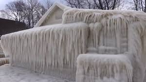 100 Housein Harsh Conditions Encase House In Ice