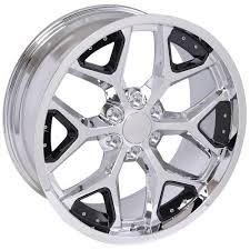 22x9.5 Rim Fits GM Trucks DD Snowflake Style Chrome W/Blk Wheel B1W ... Wheel Collection Fuel Offroad Wheels Amazoncom Moto Metal Mo969 Triple Chrome Plated With Red And 20x85 Black Silverado 1500 Style 20 Rims Fit Show Your Pictures Or Chrome And Black Rims On Truck Ultra Ultra Helo Luxury Wheels For Car Suv Grid Gd1 W Insert West Coast Tire 19992018 F250 F350 Xd 20x9 Hoss 18mm Offset Fuel D268 Crush 2pc Forged Center With Face Things To Consider When Shopping Truck Get Latest Vehicle