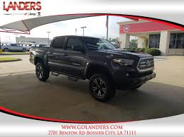 Pre-Owned 2016 Toyota Tacoma TRD Sport Crew Cab Pickup In Bossier ... New 2018 Toyota Tacoma Trd Sport Double Cab 5 Bed V6 4x2 Automatic 2019 Upgrade 4 Door Pickup In Kelowna Preowned 2017 Crew Highlands Sr5 Vs 2015 4x4 Reader Review Product 36 Front Windshield Banner Decal Truck Off Chilliwack 2016 Used 4wd Lb At Feature Focus How To Use Clutch Start Cancel The I Tuned Suspension Nav