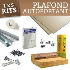 kit matériaux 20m faux plafond autoportant plaque de plâtre