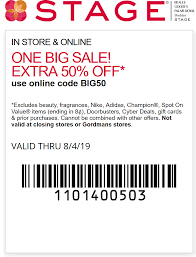 Stage Coupons - Extra 50% Off At Stage, Or Online Via Promo Code BIG50