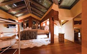 100 Zermatt Peak Chalet Guest Room With Glass Roof At Luxury Ski