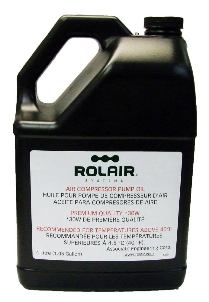ROLAIR OILCOMP30W4L 1 Gallon (Bottle) Standard 30 wt Air Compressor Oil