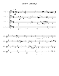104 Lord B Of The Rings Sheet Music For Clarinet In Flat Clarinet Ass Woodwind Quartet Download And Print In Pdf Or Midi Free Sheet Music Musescore Com