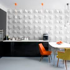 3D Wall Design In White For The Kitchen