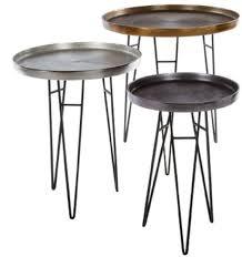 casa padrino luxus wohnzimmer beistelltisch set bronze silber grau ø 50 x h 60 cm runde metall beistelltische