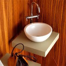 vasque à poser ronde en céramique contemporaine vanity
