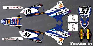 kit deco yz replica yzf kit decoration sx usa edition yamaha yz yzf 125 250 450 idgrafix