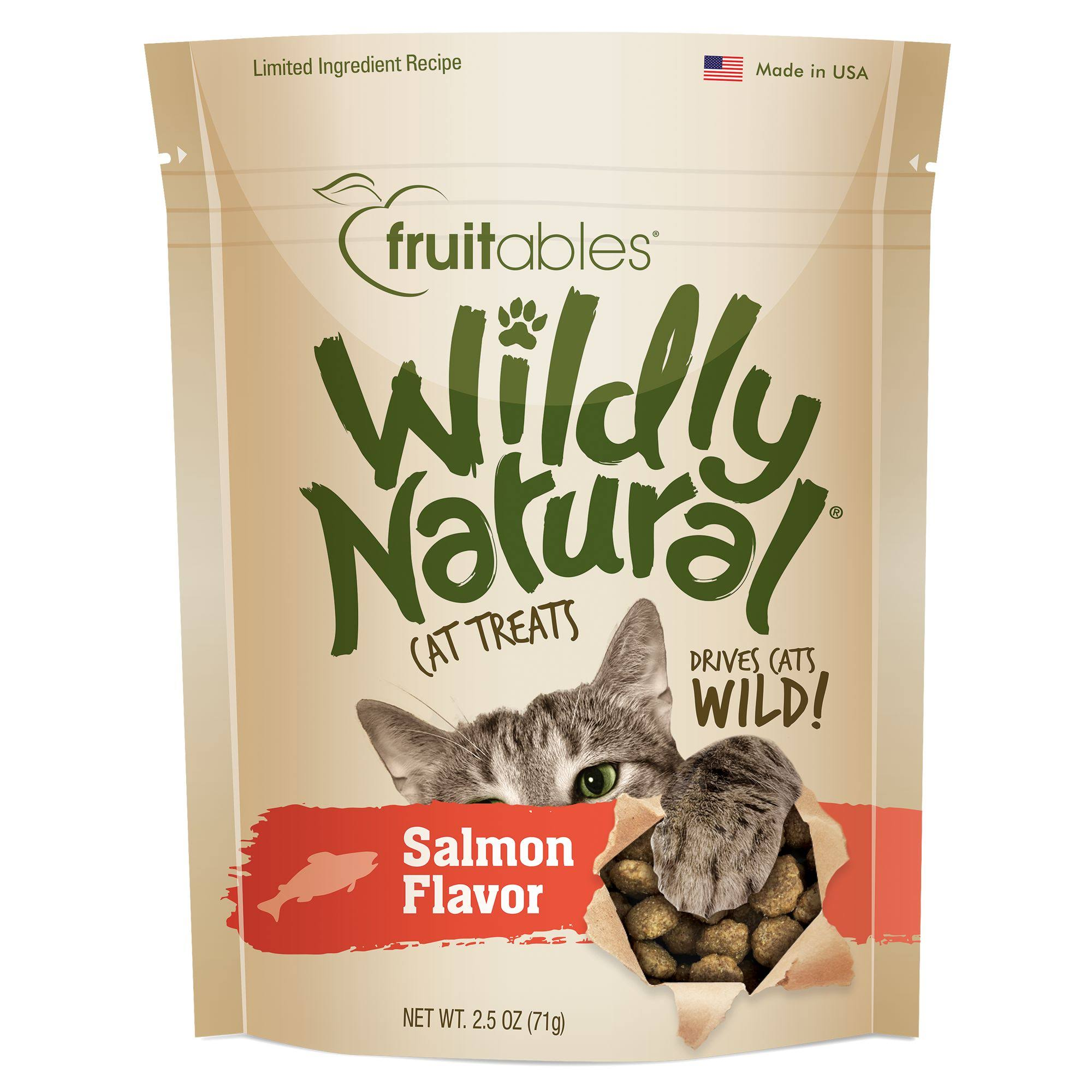 Fruitables Wildly Natural Cat - Salmon Treats - 2.5 oz