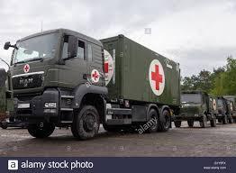 100 German Trucks MUNSTER GERMANY MAY 2012 German Rescue Center System On Trucks