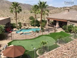 The Best Custom Putting Greens In Arizona - Paradise Greens Amazing Small Backyard Landscaping Ideas Arizona Images Design Arizona Backyard Ideas Dawnwatsonme How To Make Your More Fun Diy Yard Revamp Remodel Living Landscape Splash Pad Contemporary Living Room Fniture For Small Custom Fire Pit Tables Az Front Yard Phoeni The Rolitz For Privacy Backyardideanet I Am So Doing This In My Block Wall Murals