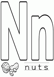 Coloring Pages For Letter N