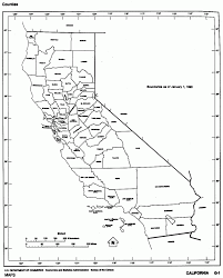 County Outline California River Map Printable Of For Kids
