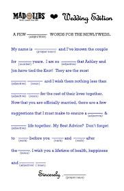 Halloween Mad Libs by 28 Mad Libs Template Funny Wedding Mad Libs Template Wedding