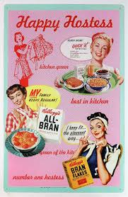 Kelloggs Ad Tin Sign Kitchen Home Decor 50s Happy Hostess Classic 25A