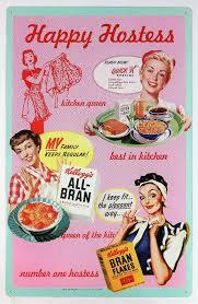 Kelloggs Ad Tin Sign Kitchen Home Decor 50s Happy Hostess Classic 25A