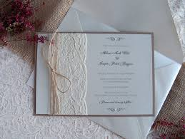 Rustic Wedding Invitation Lace Dusty Rose