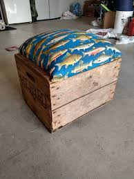 Introduction Reclaimed Wooden Shipping Crate Into Rolling Seat With Storage