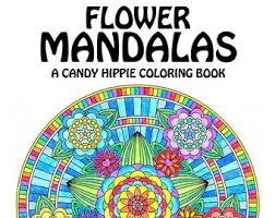 Flower Mandalas Adult Coloring Book
