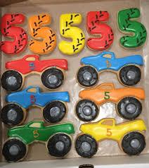100 Monster Truck Cookies Truck Birthday Cake And Cookies Brookies Facebook