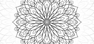 Dahlia Flower Free Adult Coloring Sheets