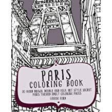 Paris Coloring Book 30 Hand Drawn Doodle And Folk Art Style Secret Themed Adult Pages Travel Books Volume 1 Aug 13 2016