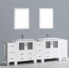 Small Double Sink Vanity Dimensions by Contemporary 96 Inch Double Bathroom Vanity Set With Mirror