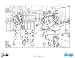 Printable Coloring Pages Activities Tori Barbie Princess Pdf And The Movie Director Takes Sequin For A Walk