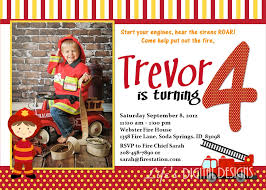 Cool Firefighter Birthday Invitations - Birthday And Party Invitation