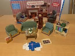 sylvanian families 5287 wohnzimmer fernseh set living room