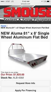 New Bed Or Flat-bed   LawnSite 014jpg American Built Truck Racks Sold Directly To You 1771 2018 Aluma Bed Snow Deck For Sale In Grandville Mi Toyota Alinum Beds Alumbody 3000 Series Hillsboro Trailers And Truckbeds For Sale In Oklahoma By 4 State Pj Extreme Sales Mdan Nd Flatbed Dump Aluma Truck Beds Four Acres Trailer Bodies Trucks New York Ladder Vans