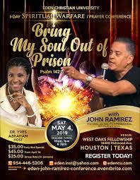 EDEN JOHN RAMIREZ SPIRITUAL WARFARE CONFERENCE Tickets Sat May 4