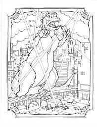 Godzilla Coloring Book PagesColouring