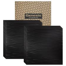 Ceilume Stratford Ceiling Tiles by Amazon Com Genesis Drifts Black 2x2 Ceiling Tiles 3 Mm Thick