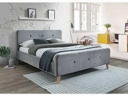polsterbett doppelbett grau blau stoff samt 160x200 schlafzimmer bett luxuriös