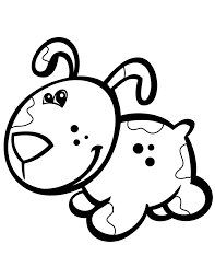 A Cute Puppy Colouring Pages Page 3 Toddler Coloring
