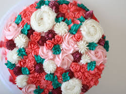 Cakes Decorated With Russian Tips by Russian Tips Flower Cake Cakecentral Com
