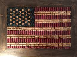 Decorative Wine Bottles Diy by American Flag Cork Board Diy Rustic Wine Corks Wine America
