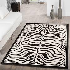 moderner teppich zebra design