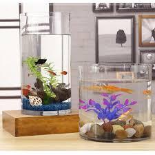 mini ökologisches aquarium fisch tank für wohnzimmer schlafzimmer esszimmer