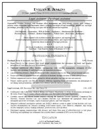 Legal Assistant Resume Sample Cover Letter Administrative Awesome