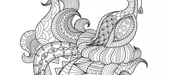 Free Peacock Coloring Page For Adults
