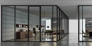 100 Sliding Walls Interior Glass Wall System For Offices BRIDGE By Transwall