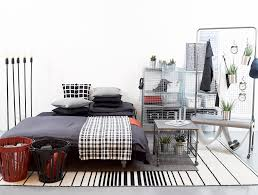 Monochrome Bedroom With Industrial Flare