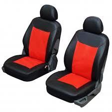couvre siege auto cuir housse siège auto pour sièges avants en simili cuir et noir