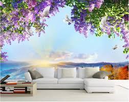 benutzerdefinierte mural 3d fototapete blumen himmel dove dekoration malerei bild 3d wandbilder wallpaper für wohnzimmer wände 3 d